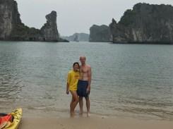 Enjoying a private beach!