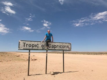 Top of the Tropic of Capricorn.