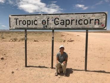 Bottom of the Tropic of Capricorn.