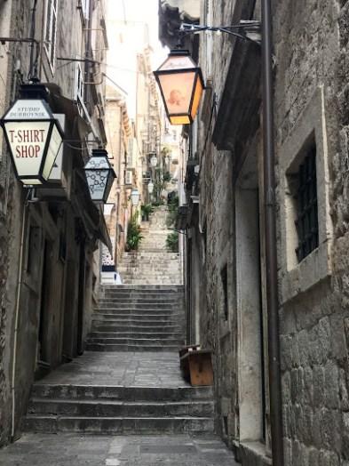 Narrow alleys.