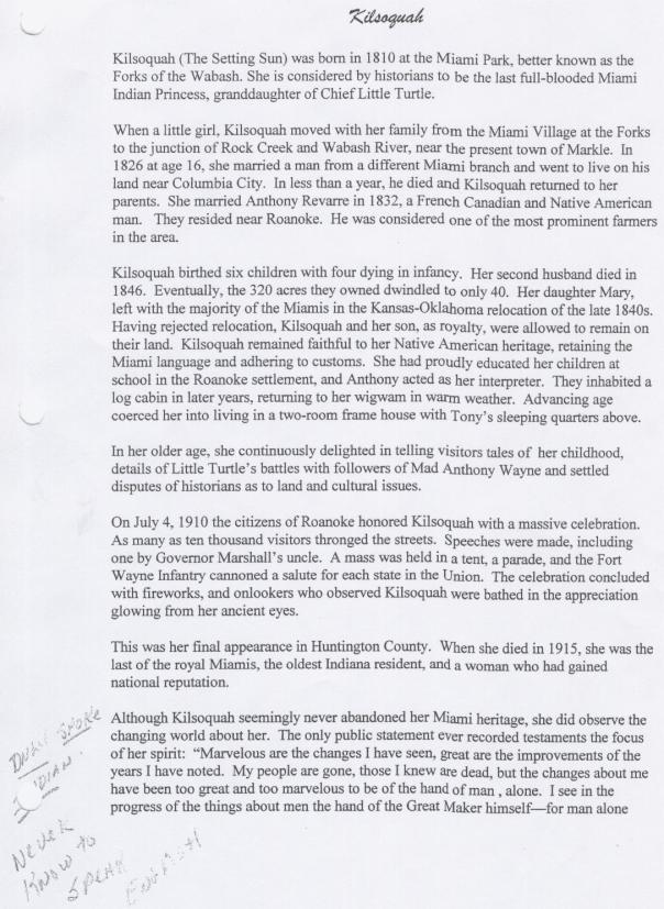 A scanned Kilsoquah article