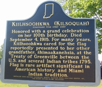 A photo of Kiilhsoohkwa (Kilsoquah) Historical Marker (Backside)