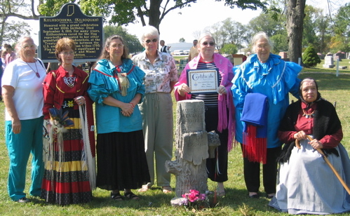 A photo of the Kilsoquah Celebration of Historical Marker Re-enactment group at the Kilsoquah Historical Marker Dedication