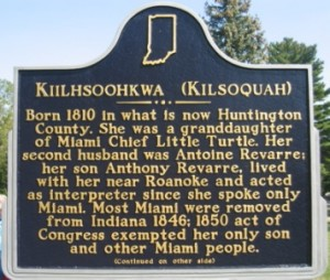 A photo of the Kiilhsoohkwa (Kilsoquah) Historical Marker