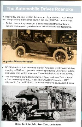 A scanned page for the Rolling into Roanoke brochure featuring Automobile drives Roanoke