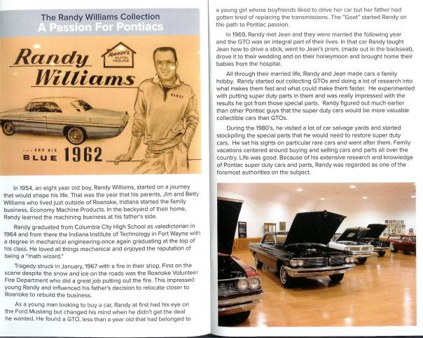 A scanned page for the Rolling into Roanoke brochure featuring Randy Williams