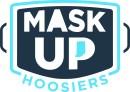 Mask up Hoosiers logo