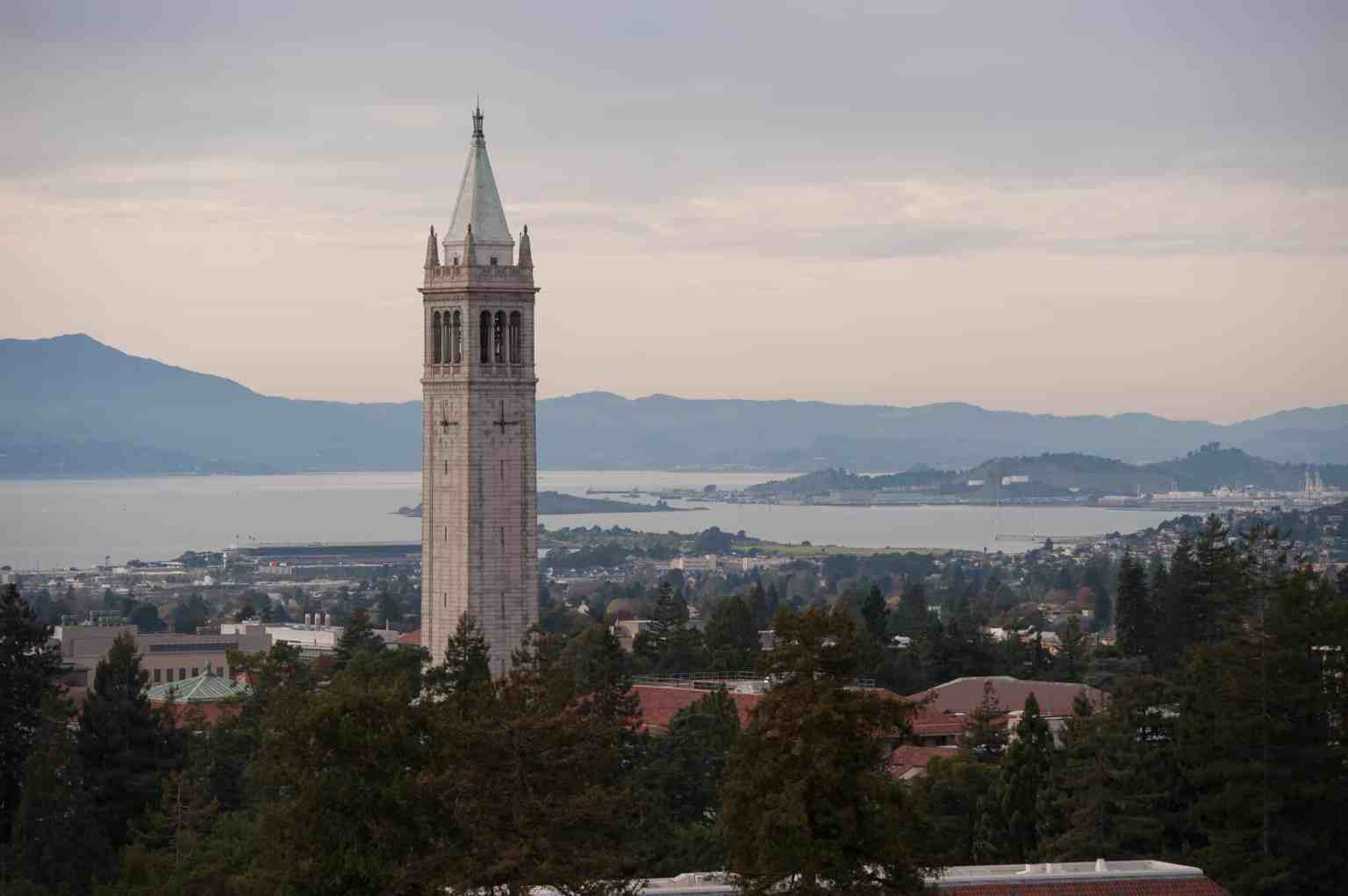 Berkeley, the Bay and the Campanile from Memorial Stadium