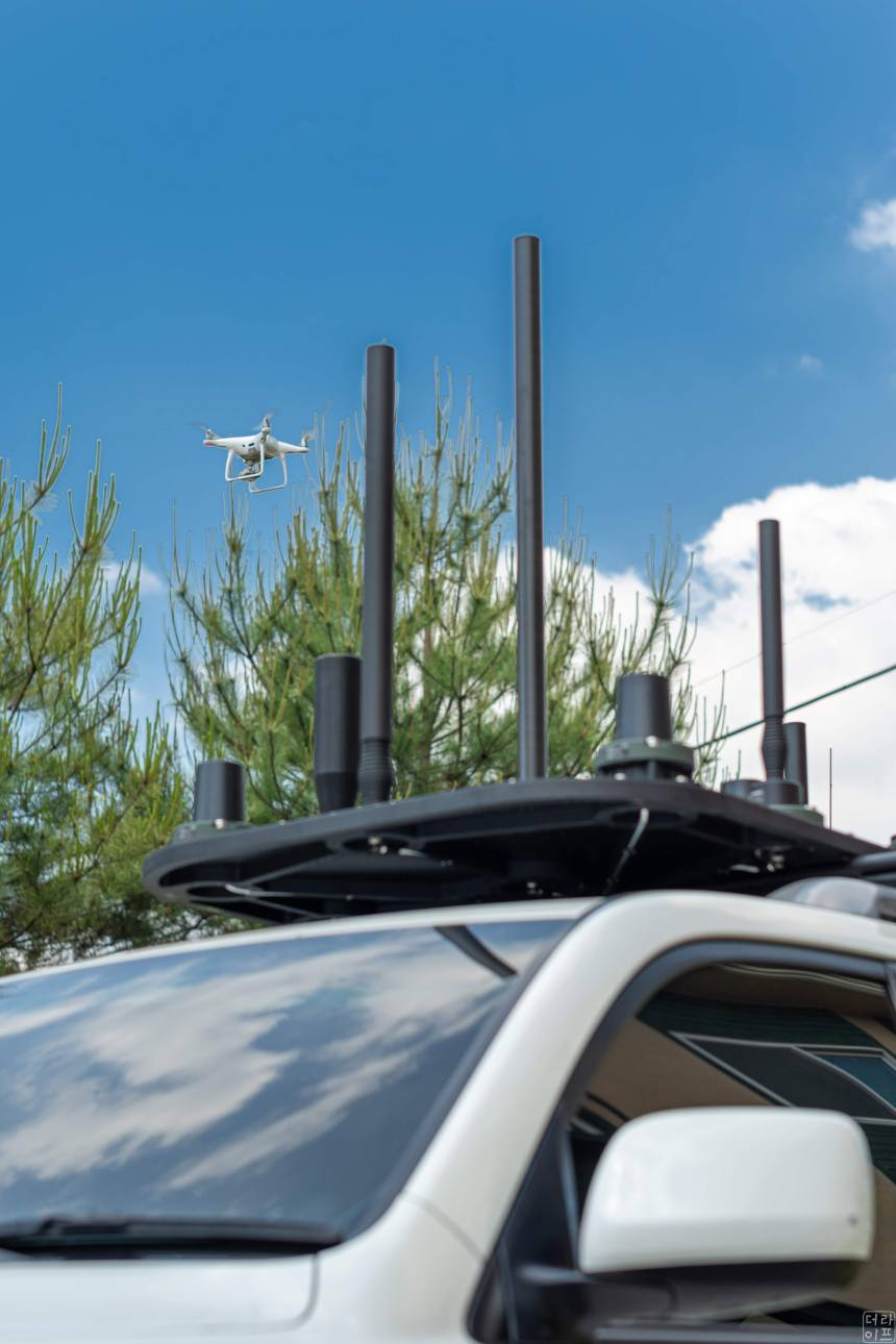 Vehicle type drone jammer