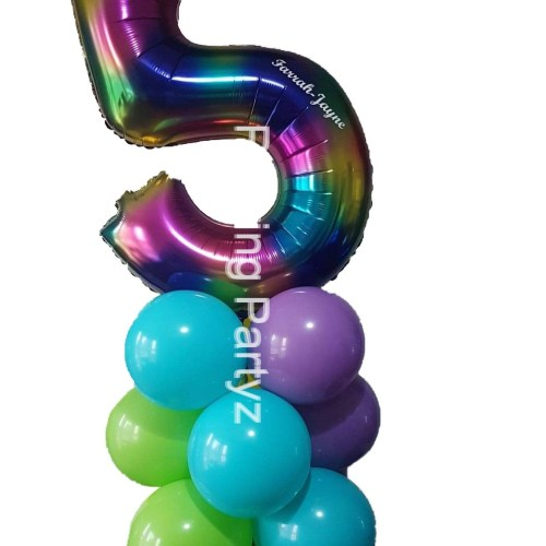Balloon Number Tower