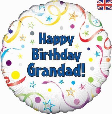 18inch happy birthday grandad balloon