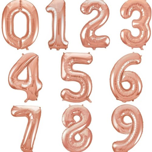 Rose Gold Number Balloon