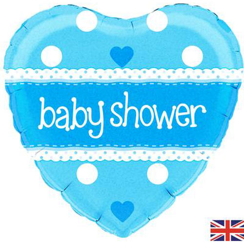 "18"" Baby Shower Heart Blue Balloon"