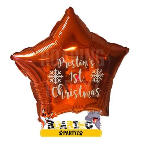 Personalised 1st Christmas Balloon