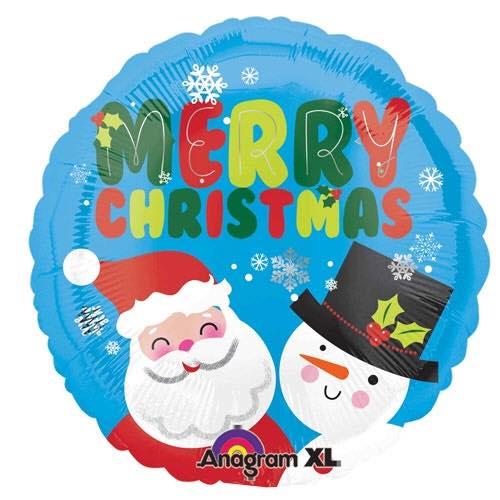 Santa & Snowman Balloon