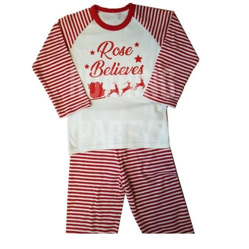 Personalised Believes Christmas Pyjamas