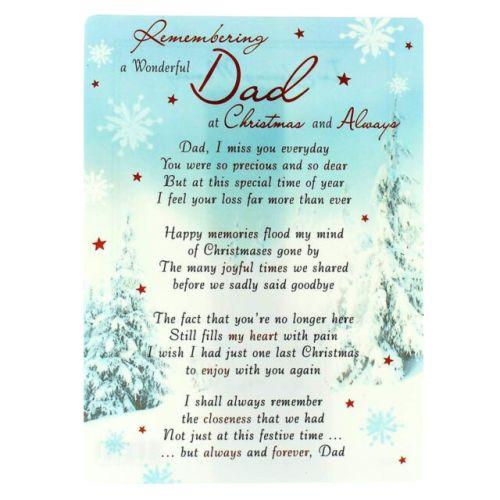 Dad Memorial Graveside Christmas Card