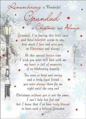 Grandad Memorial Graveside Christmas Card