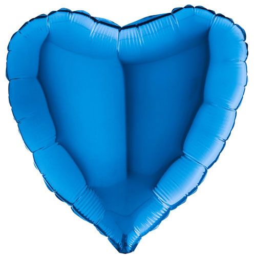 18 Inch Blue Heart Balloon