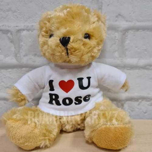 16cm Personalised I❤U Teddy Bear
