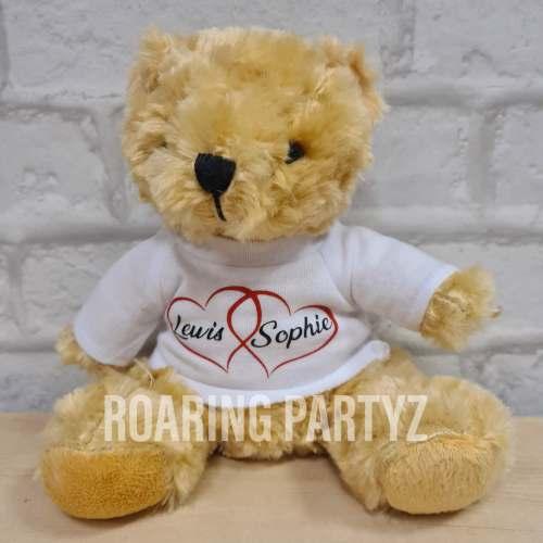 16cm Personalised Couple Teddy Bear
