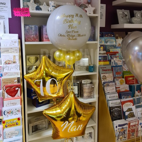 This Orb and Shape Cluster is perfect for any occasion! The balloons as a cluster to create a unique display for occasion.