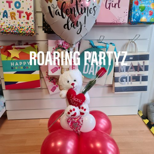 18 Inch Balloon, Bear and Rose Set