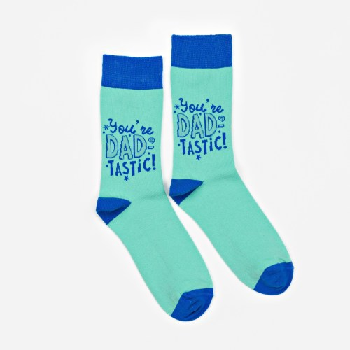 Cheerful Socks - Dad-Tastic are perfect to cheer someone up & show them you care! The pack includes a cheerful bright and vibrant pair of men's socks by CELEBRATIONS®.