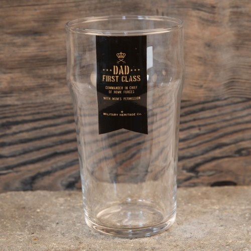 Military Heritage Beer Glass - Dad