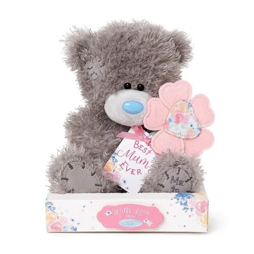 Best Mum Ever Flower N Tag Bear