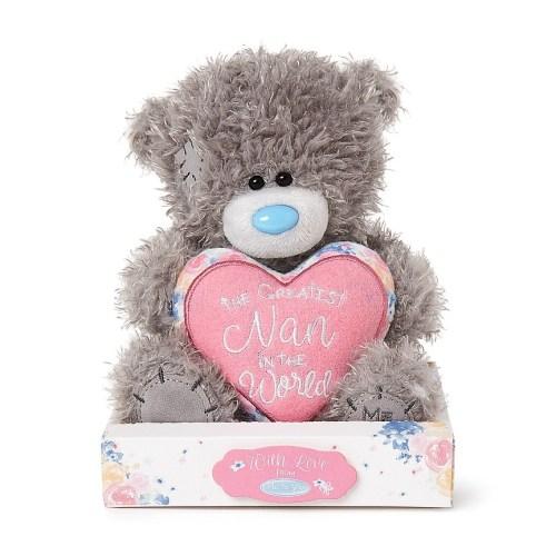"7"" Padded Greatest Nan Heart Me to You Bear"
