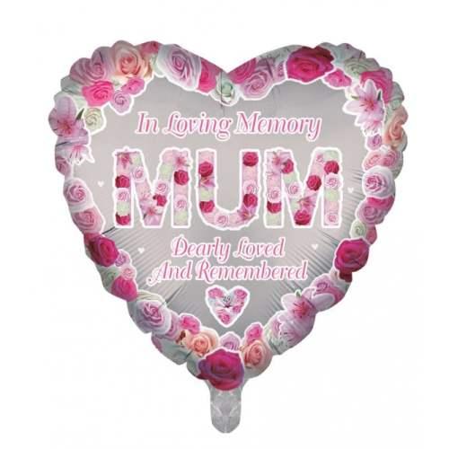 Remembrance Mum Heart Balloon