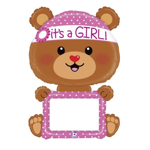 The giant 48 Inch Remarkable Baby Girl Balloon is perfect for welcoming a new baby to the world or for a baby shower.
