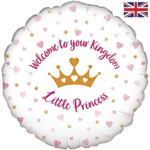 "18"" Welcome Little Princess Stars Balloon"