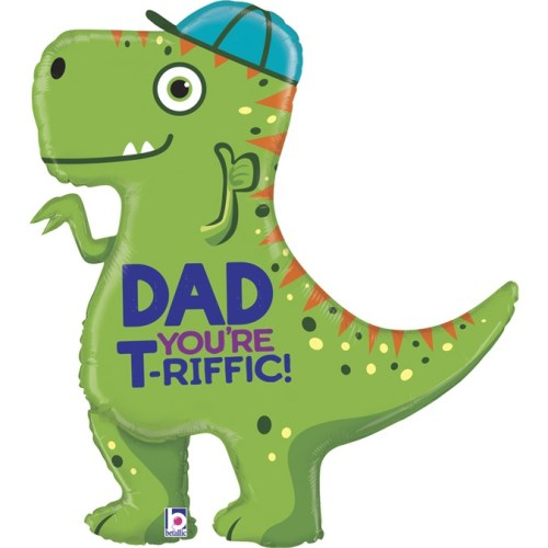 """35"""" T-Rex Dad Balloon"""
