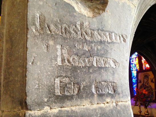 Medieval masons marks and graffiti