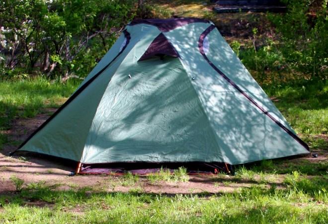 River campsite