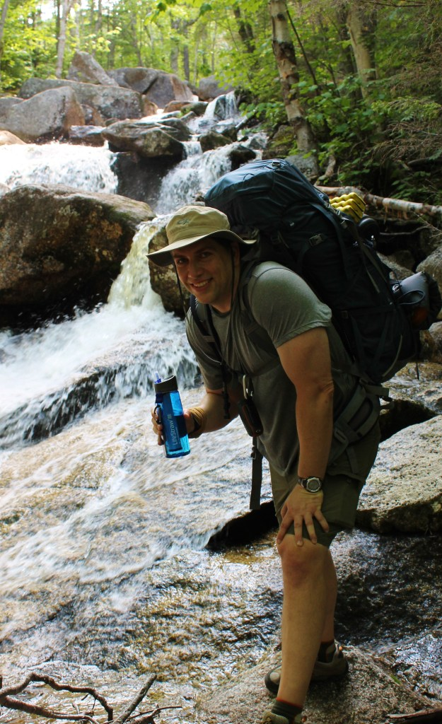 Refreshing cold water, love the LifeStraw bottle!