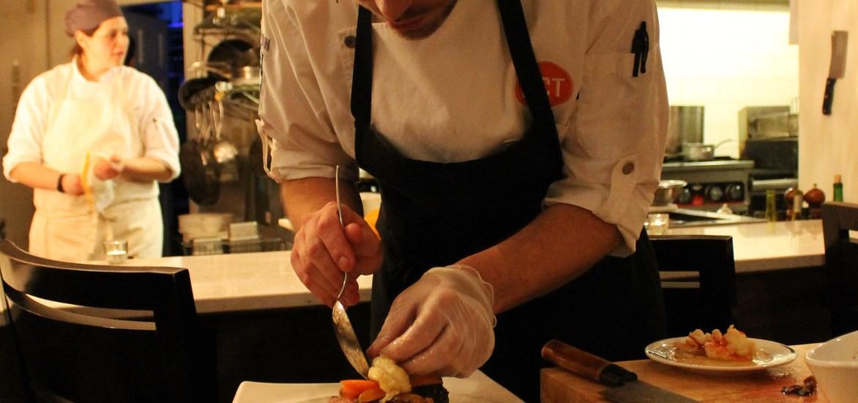 chef preparing dinner