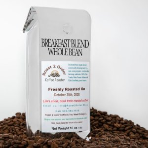 Breakfast Blend Fresh Roasted Coffee