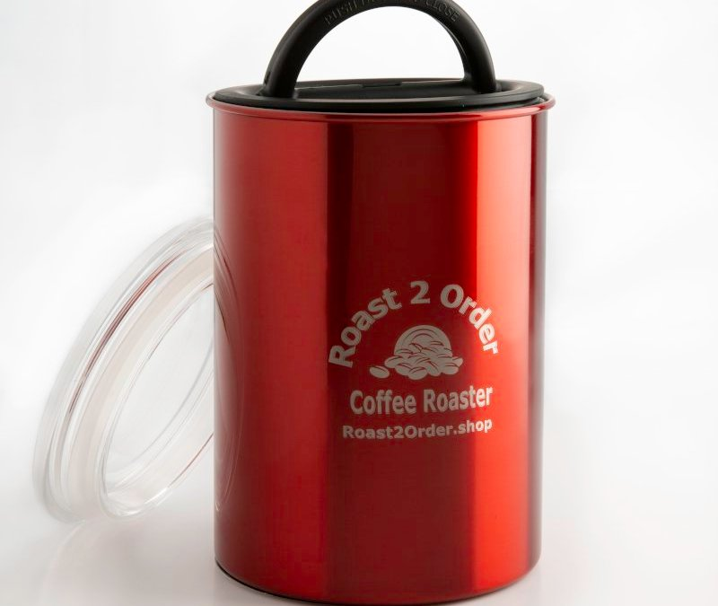 Keep Your Coffee Fresh in a Coffee storage canister in red with lid