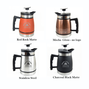 32oz Coffee and Tea Press with air lock 4 colors