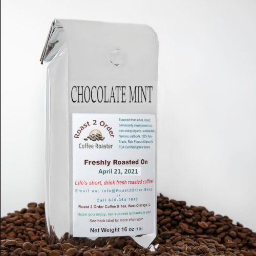 Chocolate Mint Flavored Coffee Beans
