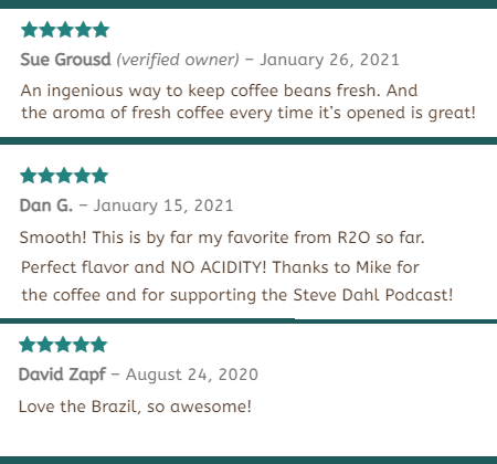 Customer Testimonies for Roast2Order.shop products