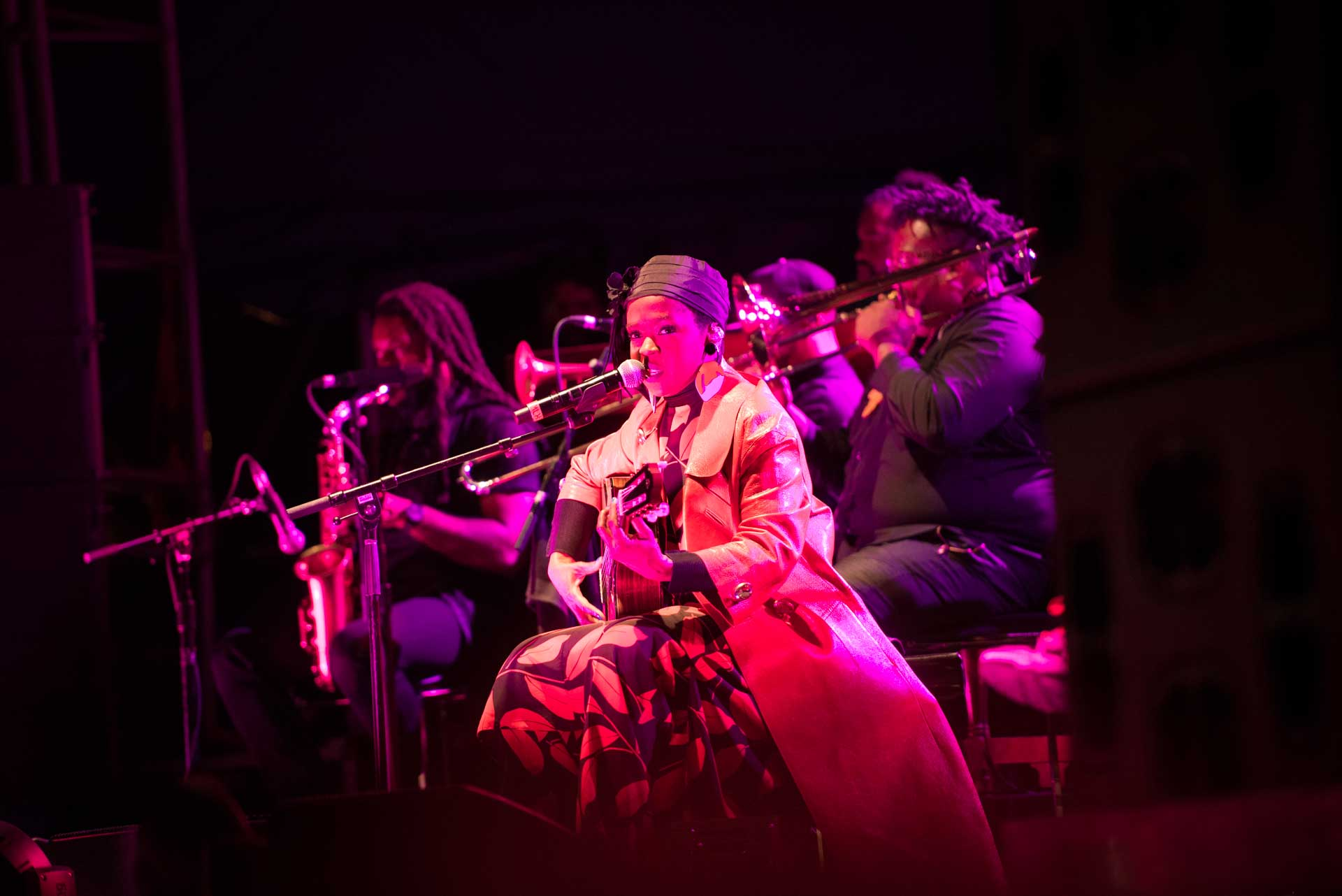 Lauryn Hill on stage in Halifax