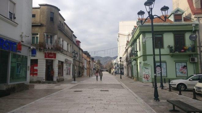 Cetinje high street