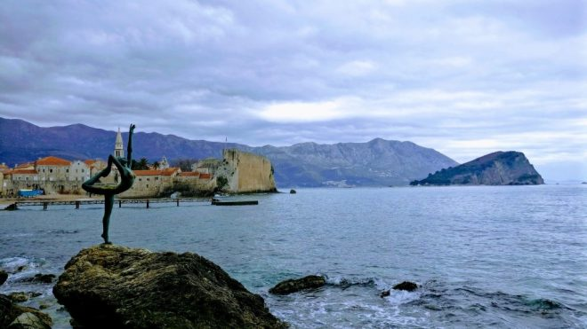 The Ballerina dances along the coast overlooking Budva