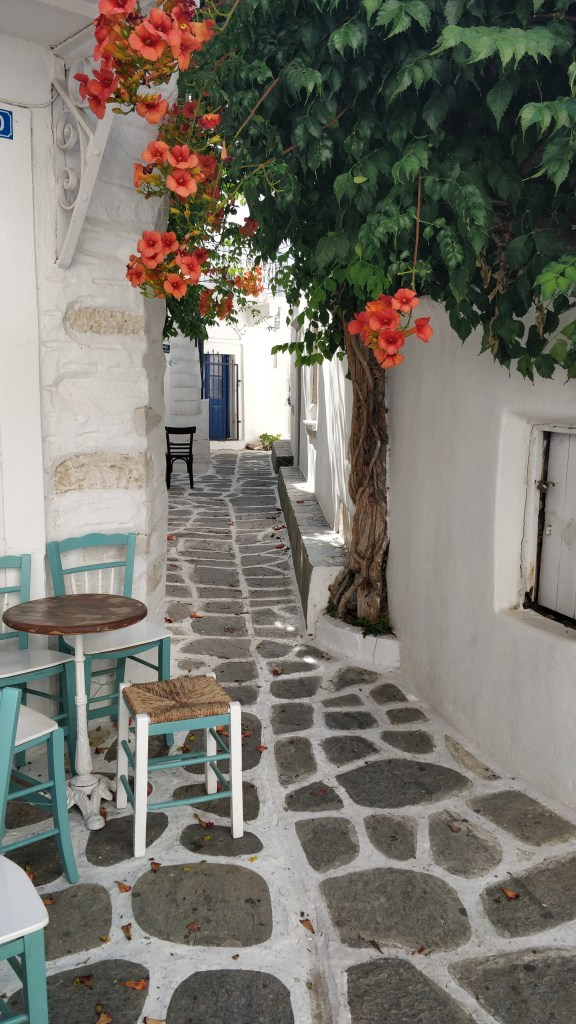 Staircases, cafes and bougainvillea are everywhere