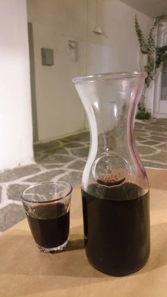 Inexpensive wine in a carafe