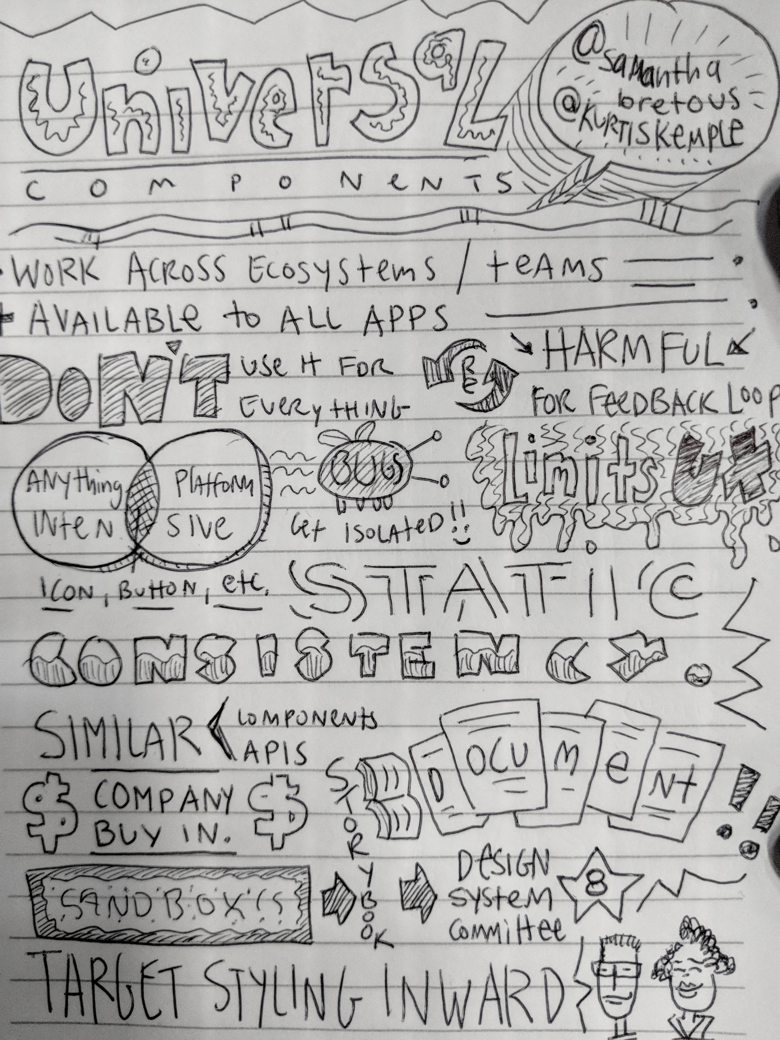 Sketch Notes on Universal Components